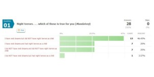 Dream Survey - Question 1c