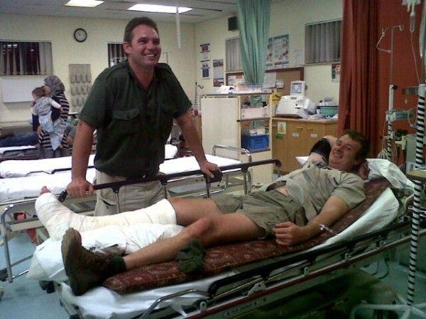 Darius in Hospital soon after accident 2